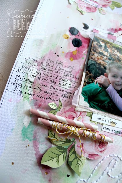 """""""Sister Love"""" layout by Bernii Miller for Sugar Maple Paper Co using the Cake for Breakfast kit."""