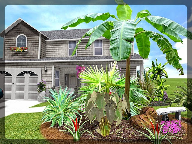 3D Plan Home Garden Design Ideas 2