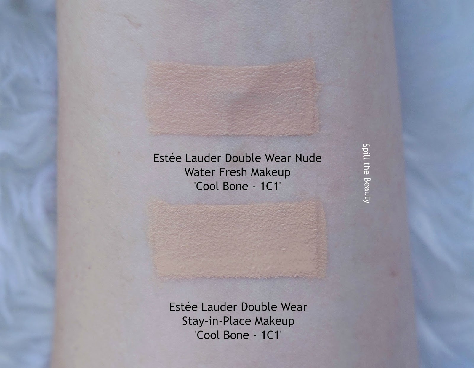 estee lauder double wear nude water fresh foundation review swatches 1c1 cool bone