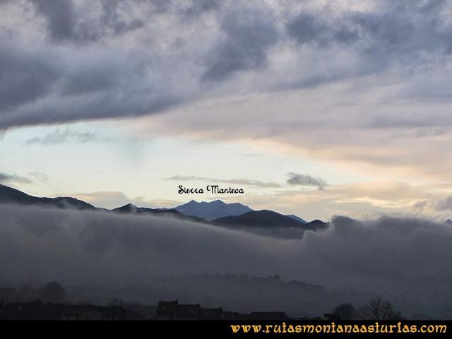 Ruta peña Manteca o Horru: Sierra de Peña Manteca desde Oviedo