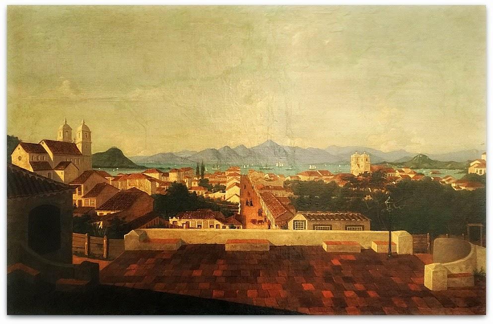 Igreja do Rosário e São Benedito, Florianópolis. Pintura de Victor Meirelles, feita em 1851.