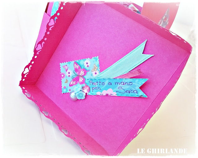 Explosion box in rosa fucsia
