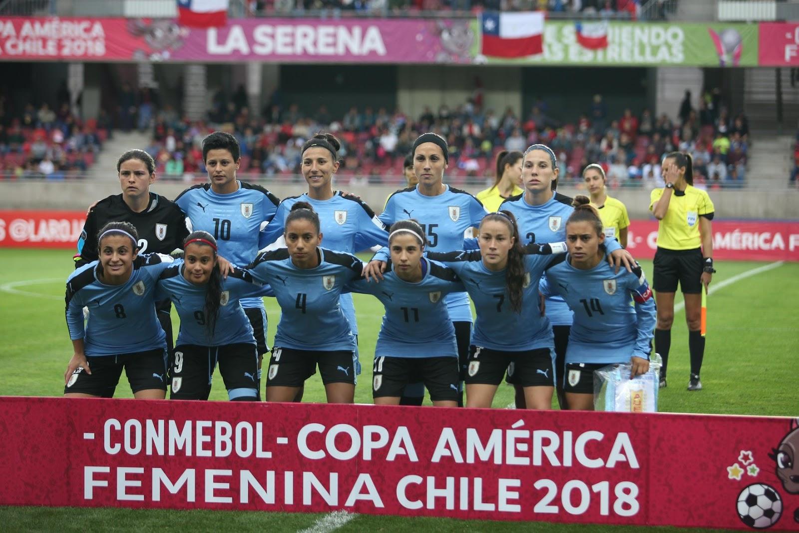 Formación de selección de Uruguay ante Chile, Copa América Femenina 2018, 10 de abril