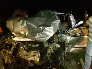 Três pessoas morrem em batida entre dois carros em trecho de rodovia na PB
