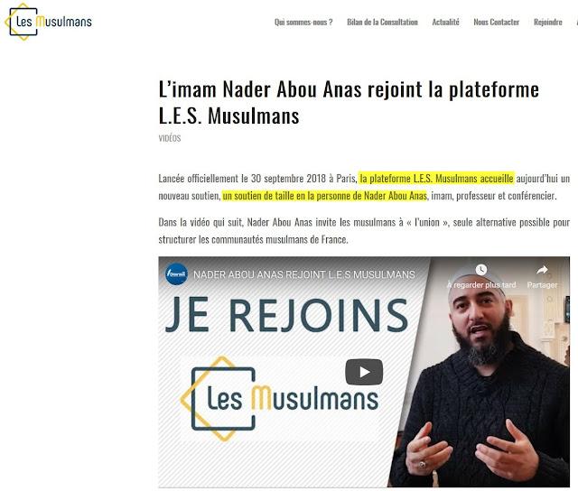 """La plateforme """"L.e.s Musulmans"""" est fier d'accueillir le salafiste Nader Abou Anas"""