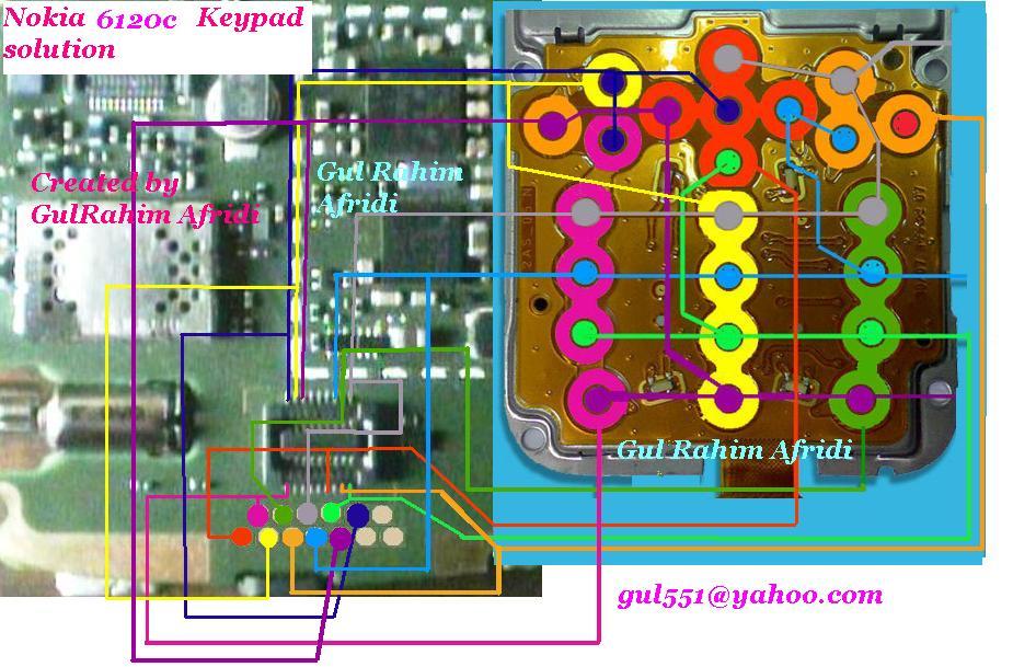 All latest hardware solution: Nokia 6120c keypad ic solution