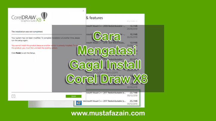 Cara Mengatasi Gagal Install Corel Draw X8