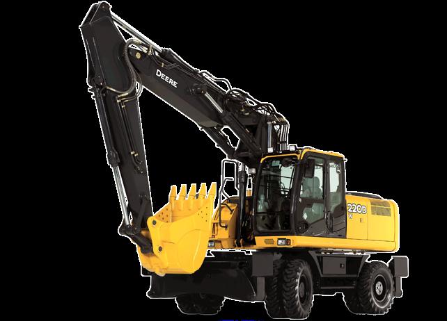 john deere excavators 220d w - alat berat