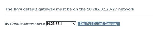 Kemp Default Gateway