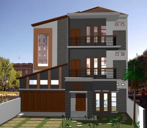 Contoh  Desain Rumah  Minimalis  3 Lantai  2019 Buatan Aku