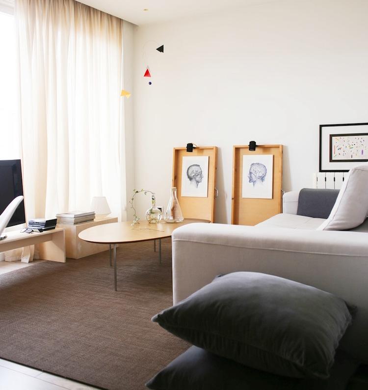 salón minimalista y nórdico