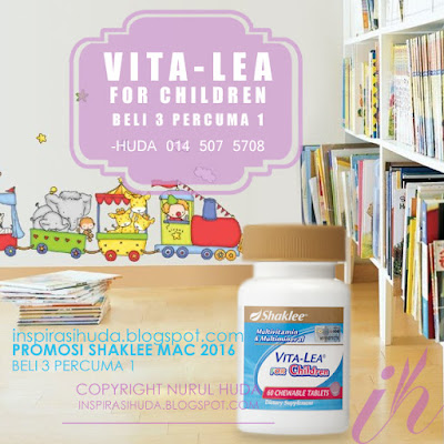 vitalea for children, multivitamin, promosi, shaklee, mac 2016