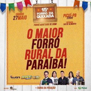 Com grandes atrações, Forró da Quixaba acontece neste sábado (27) em Picuí