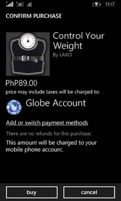 Globe Direct Carrier Billing for Windows Mobile Store