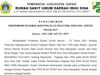 Pengumuman Penerimaan Pegawai Non PNS BLUD RSUD Ibnu Sina Kabupaten Gresik