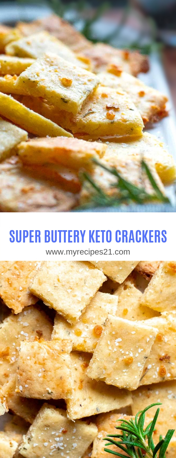 SUPER BUTTERY KETO CRACKERS