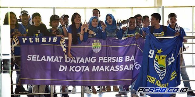 Bobotoh Makassar Sambut Kedatangan Tim Persib Bandung