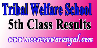 TSTWREIS Gurukulam 5th Class Entrance Test Results TS Tribal Welfare School Results