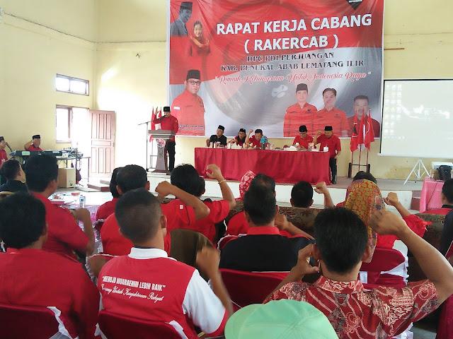 PDIP Kabupaten PALI Gelar Rakercab