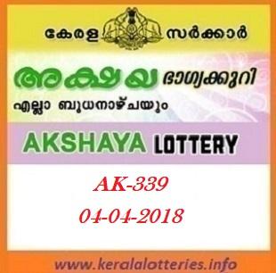 AKSHAYA (AK-339) LOTTERY RESULT