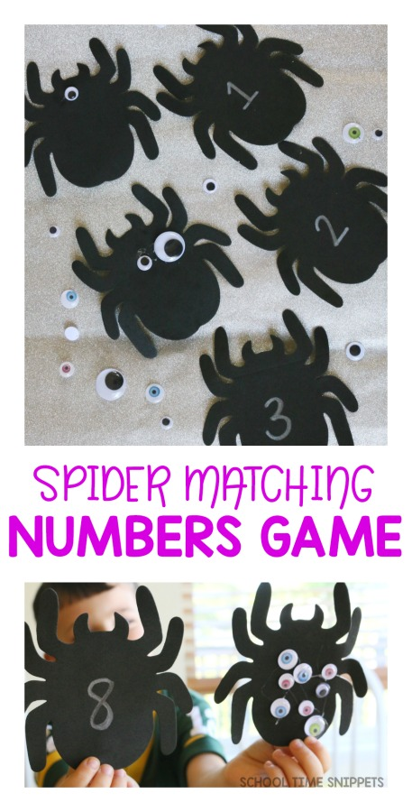 spider activity number matching
