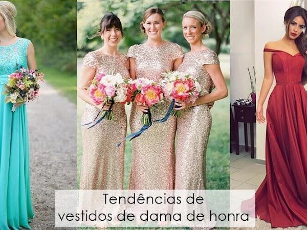 Tendências de vestidos de dama de honra para a primavera 2019