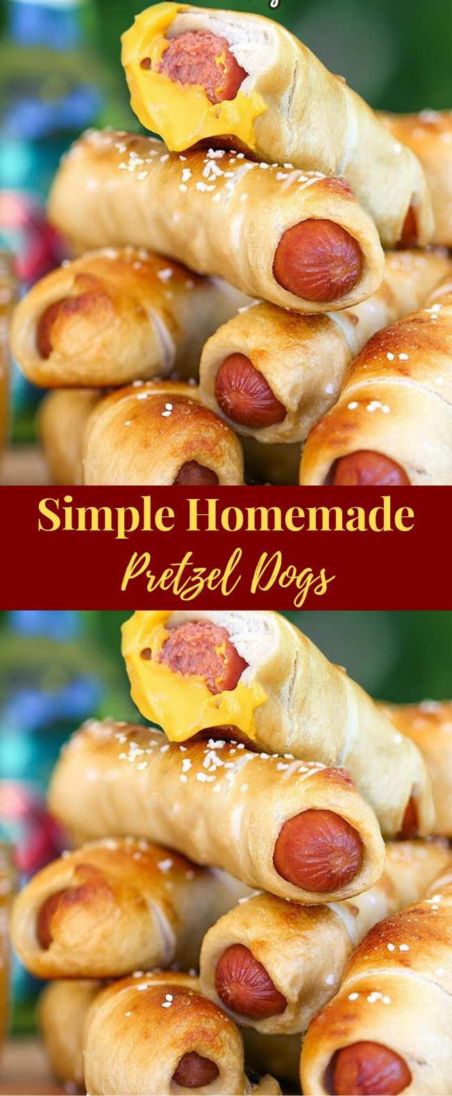 Simple Homemade Pretzel Dogs #Meal #Snack