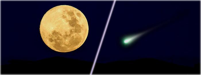 eclipse lunar penumbral e máxima aproximação do cometa 45P-HMP