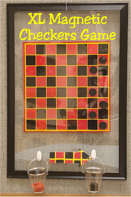 Play an extra large game of Checkers with this magnetic board game you can hang on the wall. It's so easy to create a fun family game that goes on and on and on.