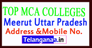 Top MCA Colleges in Meerut Uttar Pradesh