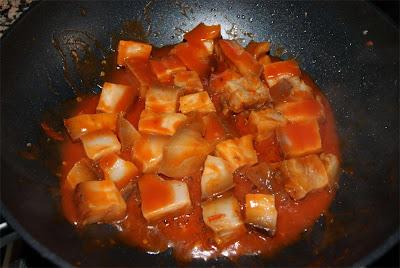 receta de papada picante con tomate paso 3