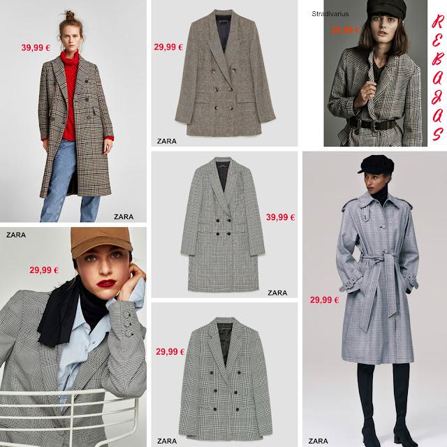 chaqueta-abrigo-cuadros-zara-stradivarius-rebajas
