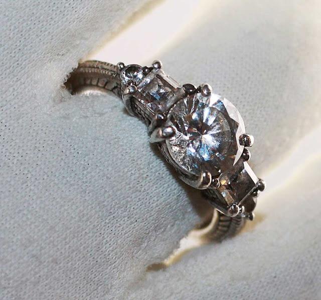 Anel de noivado 1912 da Rose