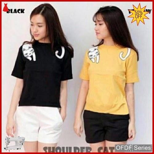 OFDF316 Atasan Kaos Shoulder Cattshirt Tumbler Tee BMGShop