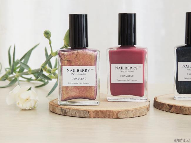 revue avis test vernis nailberry vegetaliens vegans pink dust storm mystere fashionista swatch