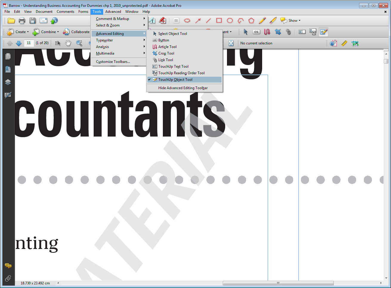 Acts of Leadership: Removing pdf watermarks