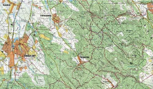 vértes hegység térkép Gesztes.hu: Vértes hegység   turistatérkép vértes hegység térkép