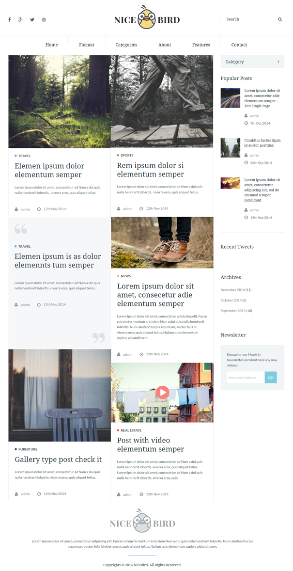 Best Blog and Newspaper WordPress Theme
