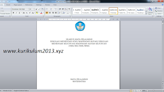 Silabus K13 Revisi 2017 SMA/MA dan SMK Mapel Wajib dan Peminatan