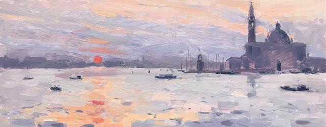 #379 'Sunrise, San Giorgio Maggiore' 20x50cm
