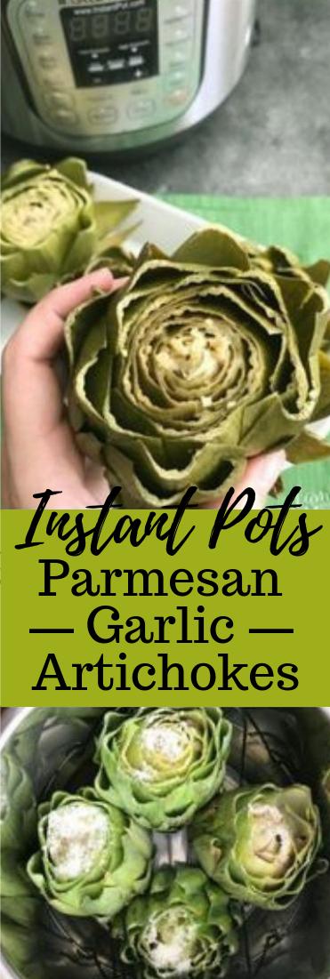 Instant Pot Parmesan Garlic Artichokes #vegetarian