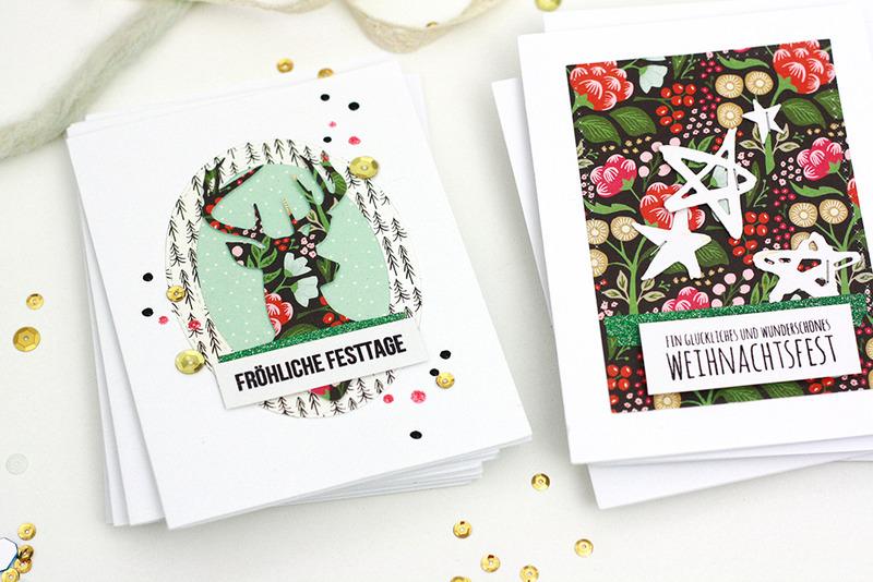 3 ideen f r weihnachtskarten for Anleitung weihnachtskarten