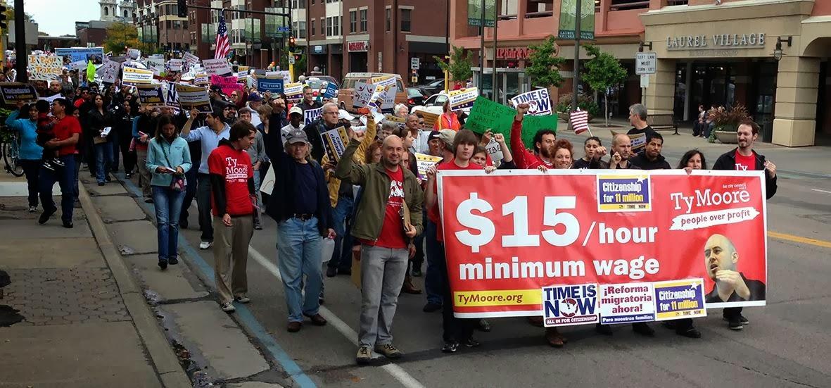Solidaritet i protest mot laga loner