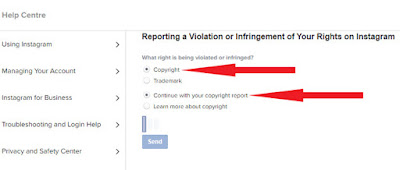 How to claim for Copyright Violation in Instagram