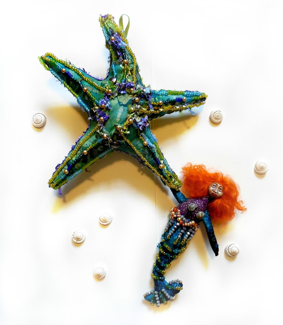The Starfish and Mermaid - the Wisdom of Stella and Ginger Pearl Art Dolls