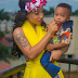 Nigerian Actress Tonto Dikeh Stuns In Yellow Alongside Her Son, King Andre