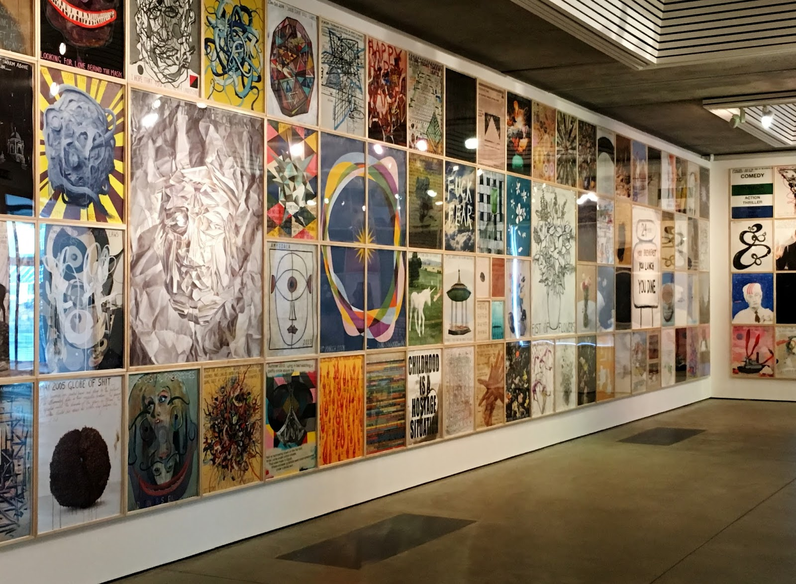 Keith Tyson exhibition at the Jerwood, plenty to look at