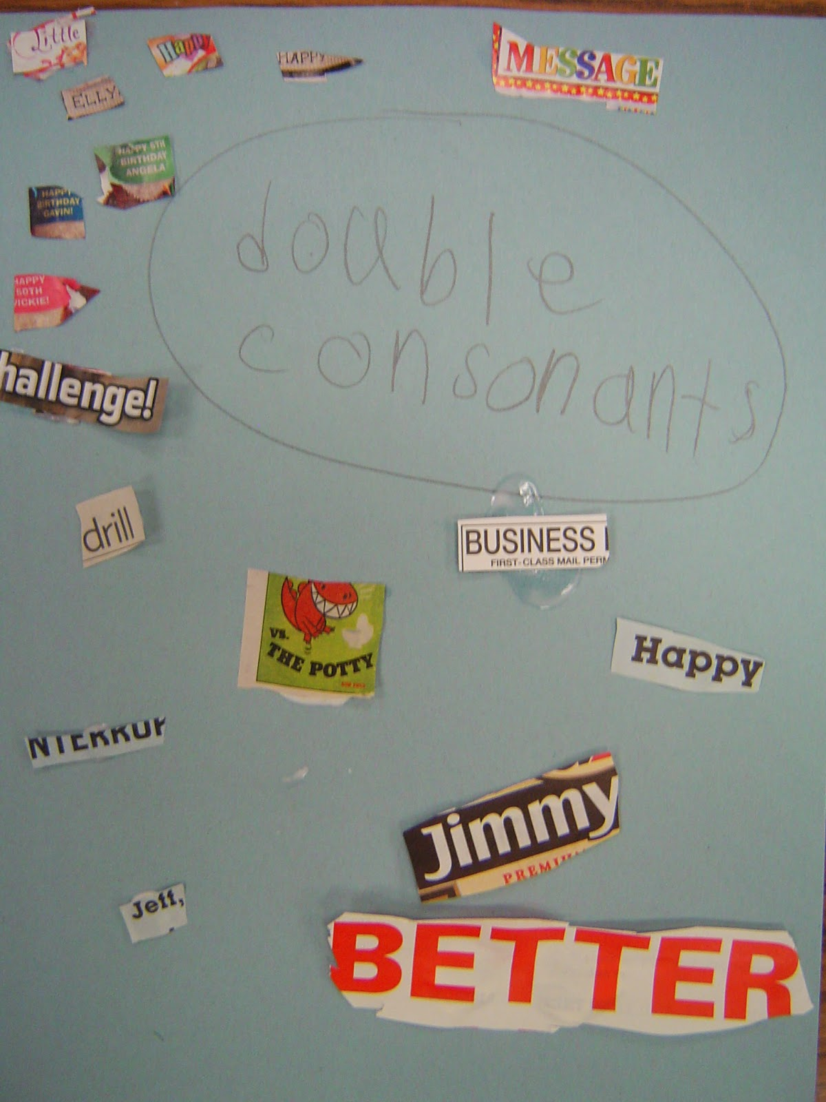 Mrs T S First Grade Class Double Consonant Web