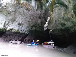 Sea cave and hong in Krabi