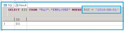 Input parameter based on procedure of type Date